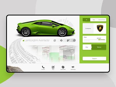 Car Shop - Landing Page concept branding ui design shopping shop vector illustrator flat iran icon illustration uidesign website web car shop car ux ui