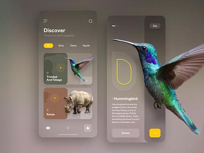 Animal Conservation App illustraion xd mobile ui app ui app ui  ux ux design ui design minimal flat animals animal uxdesign uidesign uiux ux design concept iran ui