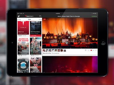 Livestream User Interface Refresh iPad
