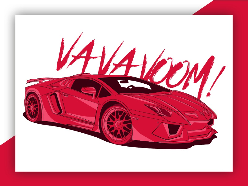 Lamborghini Aventador Illustration By George Sawyer Dribbble