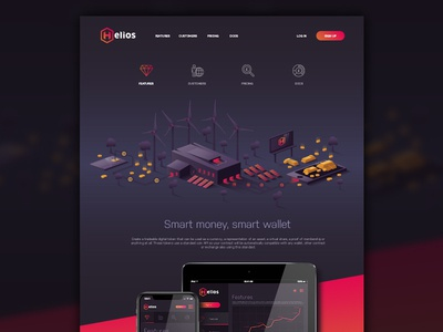 Helios Website Concept