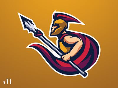 Spartan Mascot Logo designer esports logo design illustration mascot logos esports mascot logo logo design logo