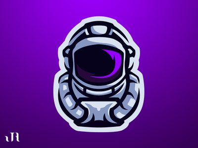 Astronaut Mascot Logo among us illustration design logos esports mascot logo branding logo design logo
