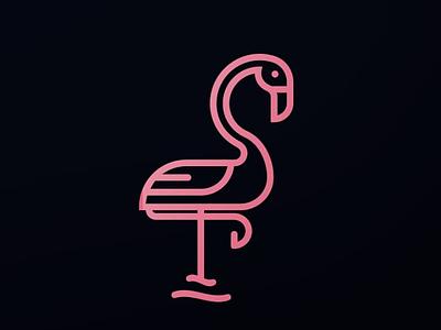 Flamingo Logo Design logo design brand branding