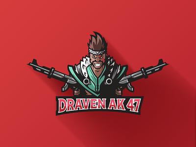 Draven AK 47 Mascot Logo draven league of legends illustration vector logo mascot logo