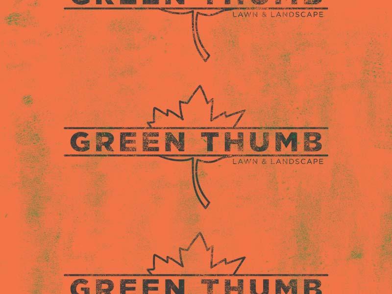 Green Thumb Logo Rework graphic design logo branding rebrand design landscape