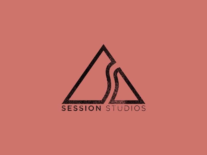 Session Studios identity outdoors badge graphic design kentucky branding logo design