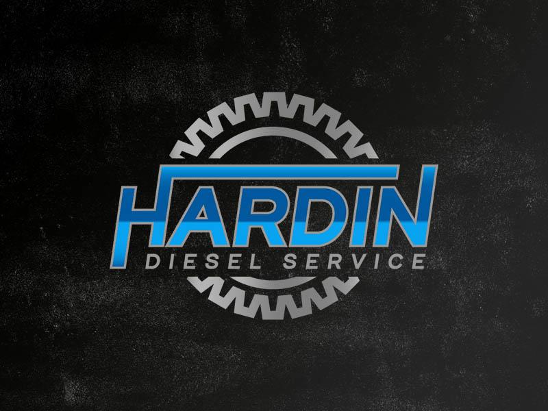 Hardin Diesel Service diesel vector identity graphic design kentucky branding logo design