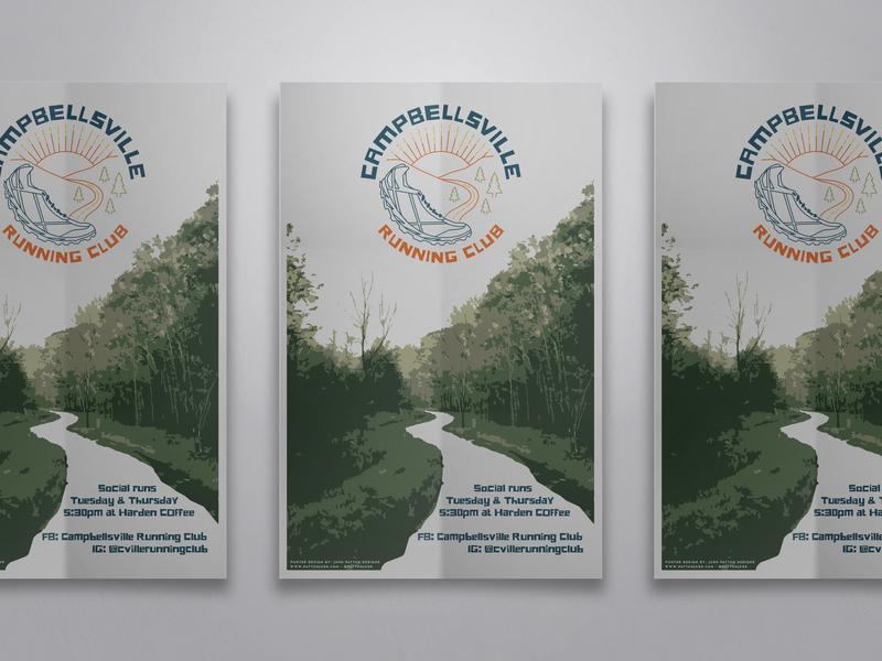 Campbellsville Running Club Poster running branding kentucky graphic poster outdoors identity jpd graphic design design