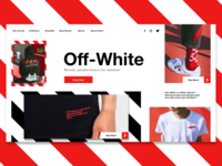 Off-white landing page