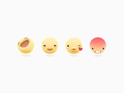 Emojis reactions emoticons emoji angry kiss laugh smile emoticon emojis
