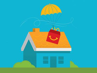 McDelivery fast food food delivery doordash mcdelivery advertising design illustration vector illustrator