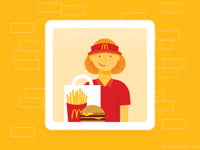McDonald's Drive Thru fast food drive-thru advertising design illustration vector illustrator