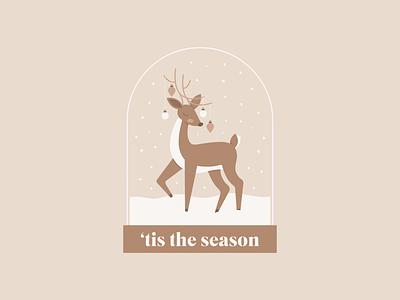 Merry Christmas 🎄 snowglobe tis the season merry christmas reindeer happy holidays holidays christmas design illustration vector illustrator