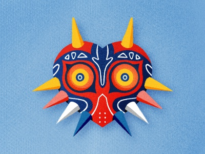 Majora's Mask nintendo majoras mask majora link zelda illustration procreateapp procreate