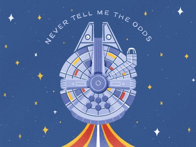 Never tell me the odds 💫 procreateapp procreate millenium falcon may the force be with you may the forth may the fourth be with you star wars day han solo star wars design illustration