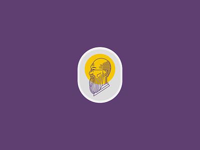 St. Maximilian Kolbe profile face badge logo religious logo religious catholic catholicism badge logo design branding advertising illustration vector illustrator