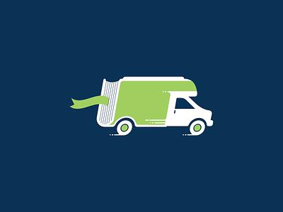 Mobile Library agency logo icon design icon icons branding advertising design illustration vector illustrator