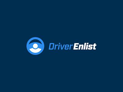 Truck Driver Logo recruiting trucker driver drive logo concept concept steering wheel truck icon design logo icon branding advertising design illustration vector illustrator