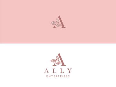Ally Enterprises Consulting feminine icon design logo icon branding advertising design illustration vector illustrator
