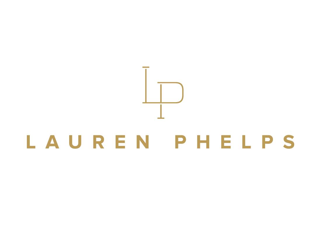 Lauren Phelps branding lettering logo lp logo