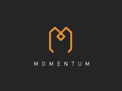 Momentum Final Concept lettermark identity logo branding design