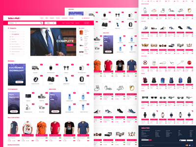 SellersWall eCommerce website Template