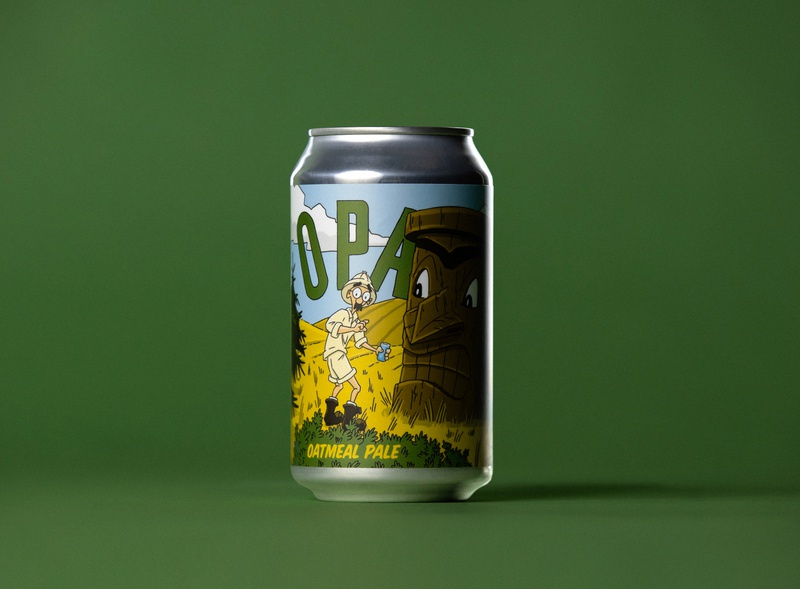 Hunga Dunga OPA beer label beer can illustration