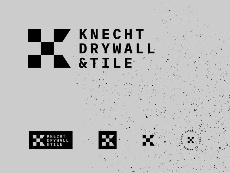 KNECHT DRYWALL logo typography design branding