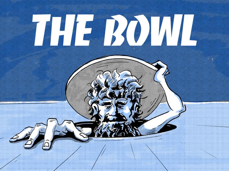 The Bowl illustration print typography design