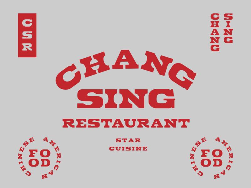 CHANG SING #2 chinese food print typedesign typography branding