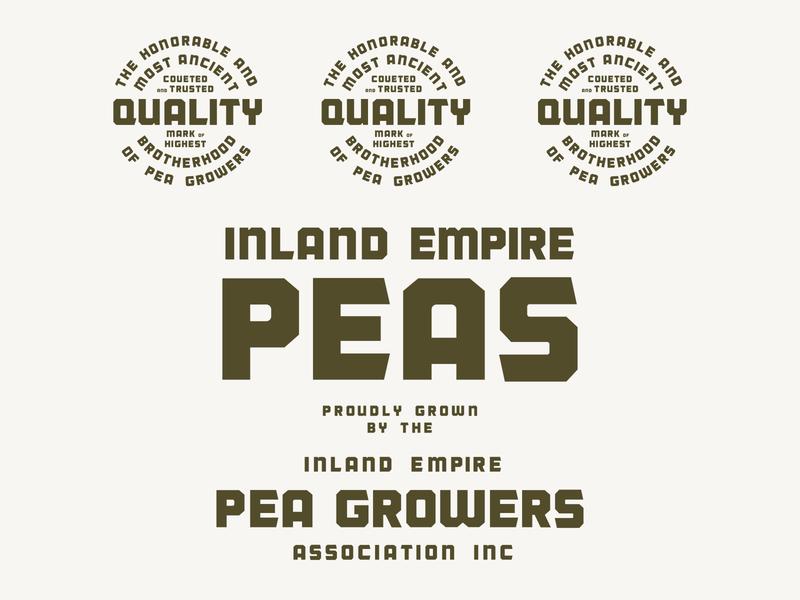 Pea Growers #2 typeface pea growers type design typography branding