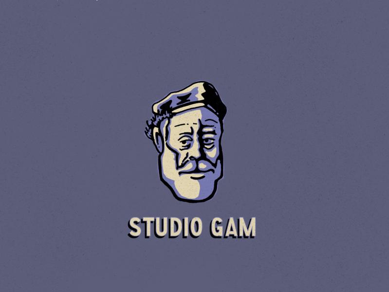 Studio Gam captain ahab illustration rembrandt design studio gam branding