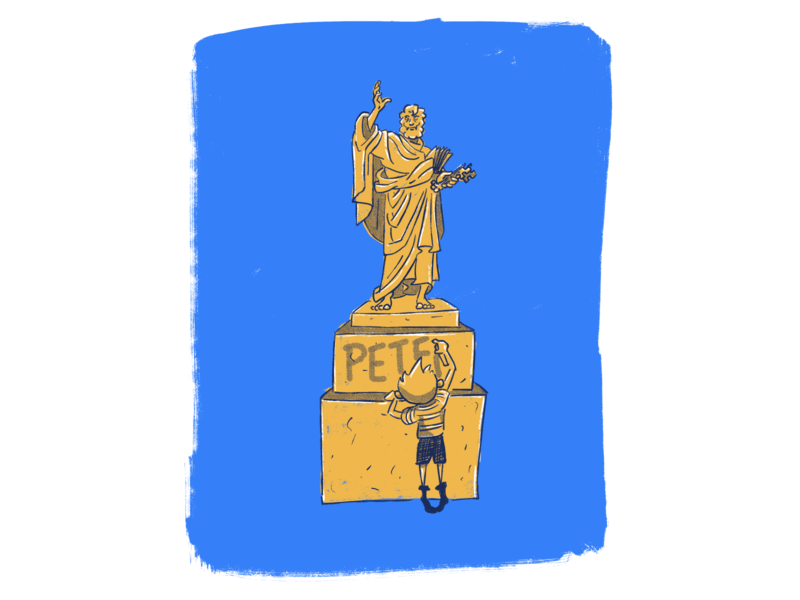 St. Pete truegrit halftone illustration