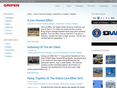 Gripen Top Gun Blog design blog design layout