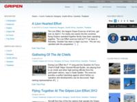Gripen Top Gun Blog design