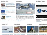 Saab Gripen website concept