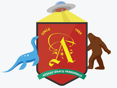 Akshay Coat of Arms coat of arms bigfoot ufo alien lochness monster ogopogo