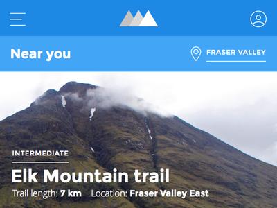 Mountain Climbers App montserrat dashboard iphone app