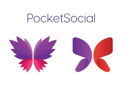 PocketSocial App logo concept vancouver logo app logo
