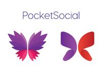 PocketSocial App logo concept