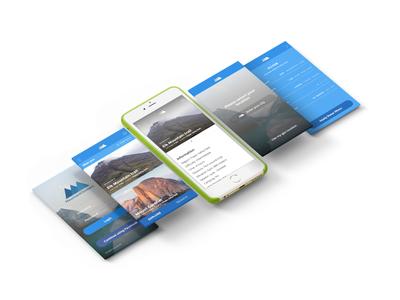 Mountain Climbers App UI mobile app user interface