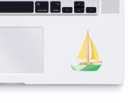 Die cut sticker for Macbook
