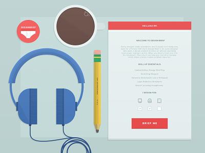 designbrief.me Progress web app uxui design brief illustration