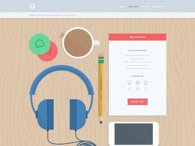 designbrief.me design brief ux ui hot ship illustration