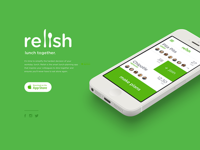 relish - lunch together. app social eating food lunch free relish beer burritos beerritos hackathon envoy