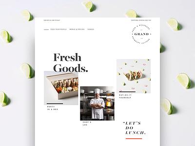 Fresh Goods tacos kitchen chef rebrand identity ui ux website branding beverage catering food