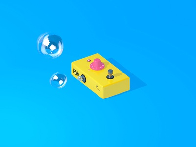 Up to 11 isometric knob 11 bubbles fx happy pedal
