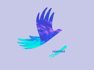 Handbird identity logo bird flight graveyard massage reject