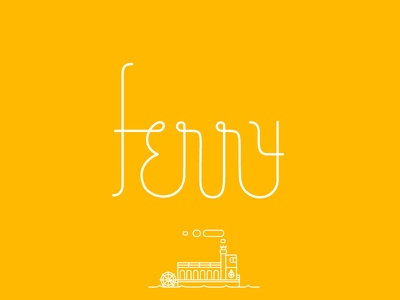 Ferry Custom Typeface type design illustration